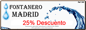 Oferta Descuento Fontaneros barato Madrid
