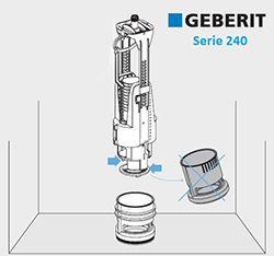 descarga Geberit 240 compatible con enganche Roca-Boyoneta
