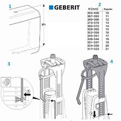 Regulacion Altura descarga Geberit 240